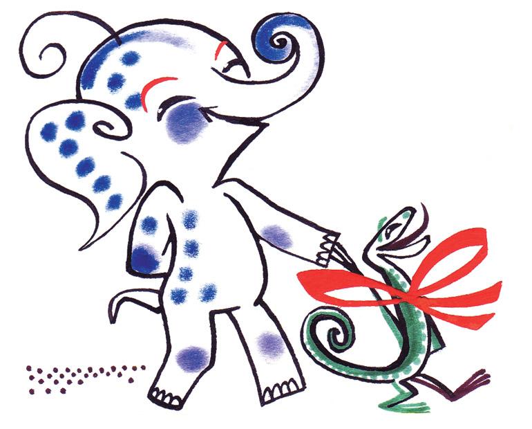 L'éléphanteau à pois bleus