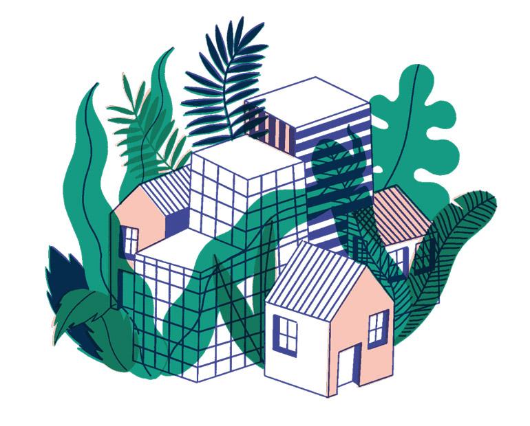 Maisons, villes et chemins