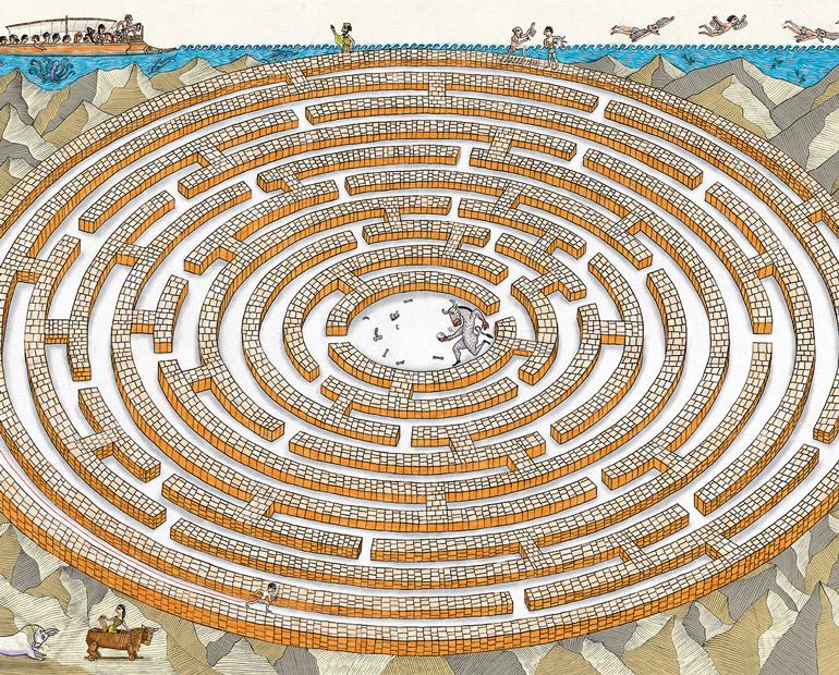 Le fil d'Ariane, mythes et labyrinthes