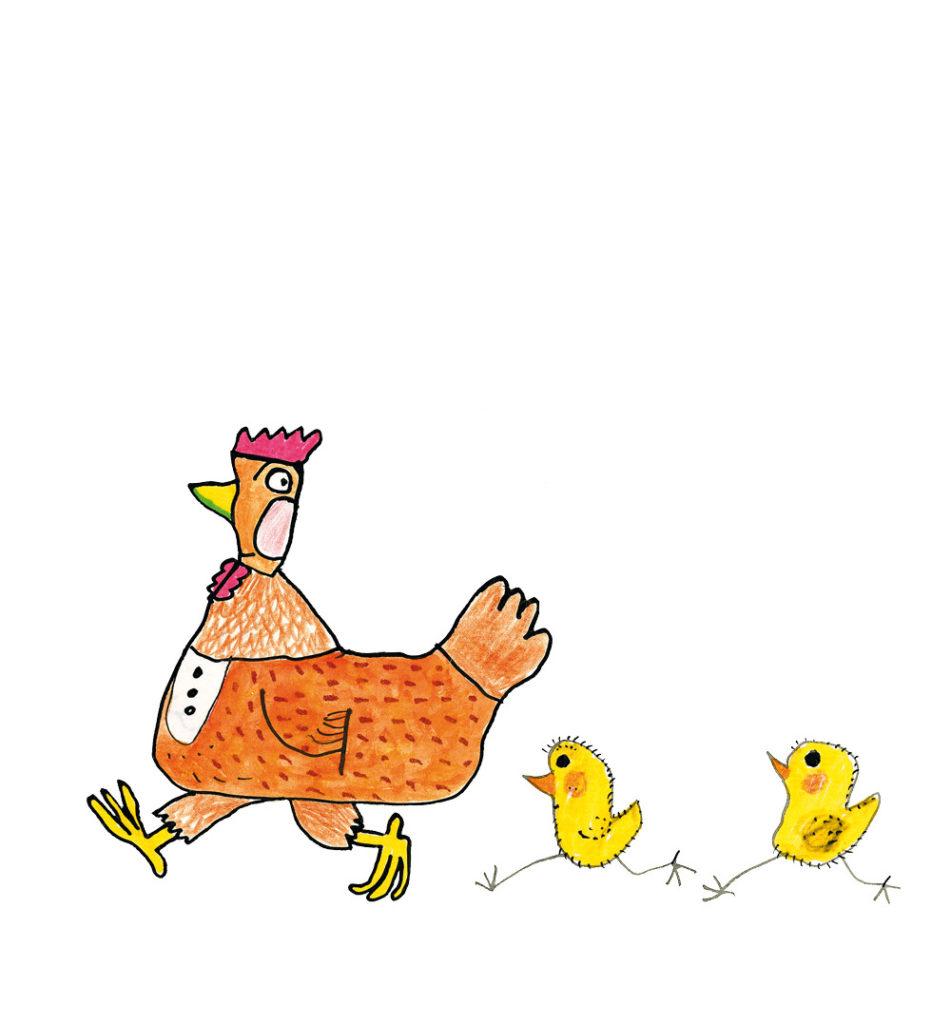 La petite poule maligne