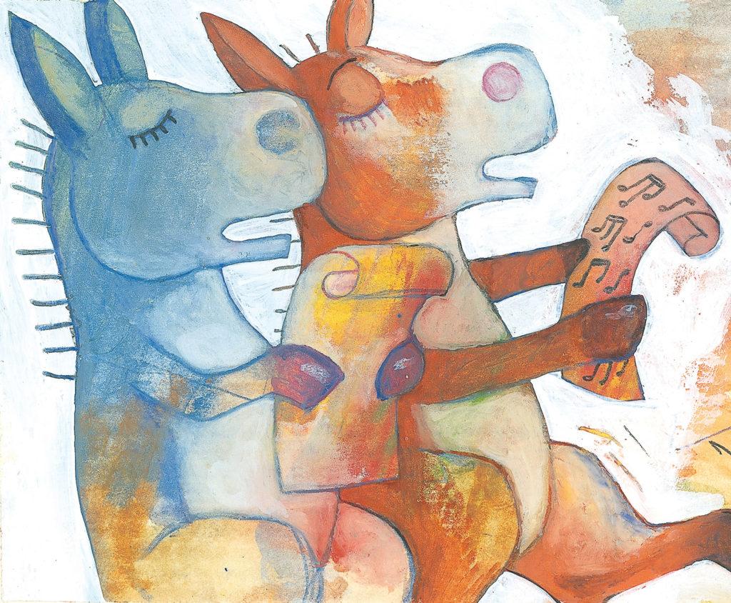 Des ânes à colorier