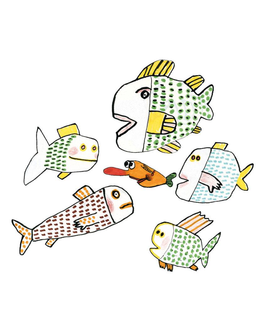 Le petit poisson bavard